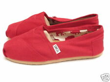 WOMENS TOMS CLASSIC CANVAS SLIP ON RED