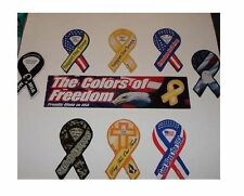 Support our Troops MINI car ribbon magnet (POW MIA, God Bless the USA, Eagle...)