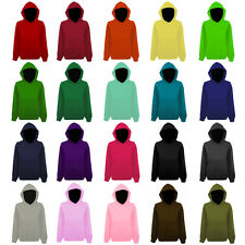 Womens Plain Colour Pullover Hooded Top Hoodie NEW UK 12-22