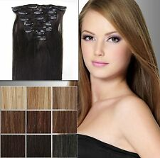 """selectable 28"""" 70CM Clip in on hair Extension 100% Human Hair many colors"""
