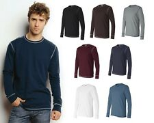 Canvas Long Sleeve Contrast Stitch Lombard Thermal T-Shirt 3500 S-2XL