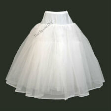 HOOPLESS DRESS PETTICOAT WEDDING PROM UNDERSKIRT CRINOLINE SLIP WHITE BLACK