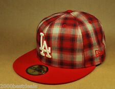 NEW ERA 59FIFTY LOS ANGELES DODGERS SUBFRESH RED WHITE PLAID MLB FITTED HAT