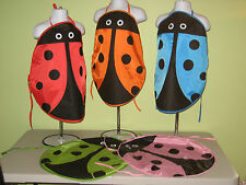 Apron Smock Art Finger Paint Chef Cook Preschool Toddler Kids Ladybug Insect NWT