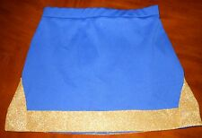 Motionwear Blue Gold Halloween CHEER Cheerleading Skirt Uniform Child & Adult Sz