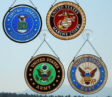 AMIA Armed Forces Suncatchers - Navy - Marine Corps - Army - Air Force  -  NEW