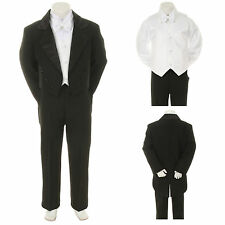 Black Wedding Formal Tuxedo Tail Suit 4 Baby, Toddler & Boy S M L XL 2T 3T 4T-20