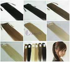 """instant clip-in human hair ponytail extensions, 80g any colors from 16""""-28"""""""