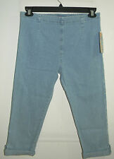 Womens New PearTree Point Bay Limited Blue Jean Capris - Sizes PS & PM