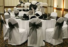 Chair Bows Solide wedding babyshower party decoration quince 24 pc