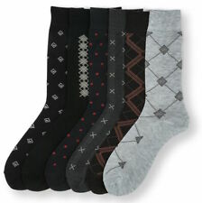 6 12 Pairs Mens Dress Socks Multi-Color Lot Socks 10-13 from 5 Style #Freedom