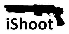iShoot Vinyl decal sticker shotgun shooting range hunting rifle shot gun NRA 4x4