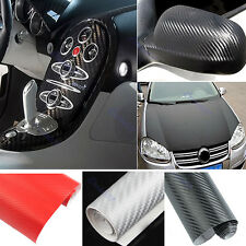 DIY Carbon Fiber Wrap Roll Sticker 1.27M x 30cm For Car Auto Vehicle Detailing