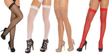 Fishnet Thigh Hi Highs with Lace Top Nylons Hosiery Stockings 1775