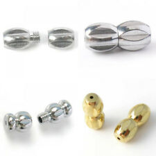 20x Metal Screw Barrel Clasp Findings for DIY Jewelry Making Gold / Silver Tone