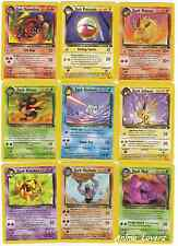 Pokemon Team Rocket Set RARE CHOOSE Cards 32-61/82 EX Out Of Print Non Shiny
