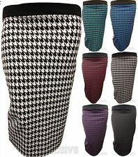 NEW LADIES PLUS SIZE AZTEC TRIBAL PRINT STRETCH BODY CON SKIRTS CUT OPEN BACK SK