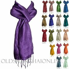 Raw 100% Silk Scarf Wrap 12 Solid Colors (RS2)