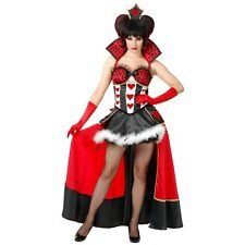 Sexy Queen of Hearts Costume Adult Alice in Wonderland Halloween Fancy Dress