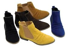 LADIES WOMENS CHELSEA SLIP ON FLAT GUSSET FASHION BOOTS ANKLE BOOTS FAB306 Odeon