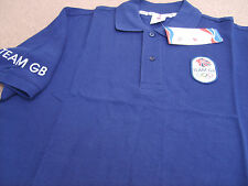 Official Olympics LONDON 2012 Team GB Men's Navy Polo Shirt (PO14)