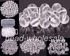 Lots 100-500pcs Transparent Acrylic Crystal Ball Spacer Beads Findings 4/5/6/8mm