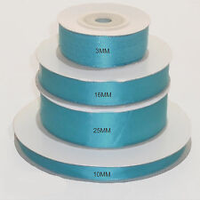 Turquoise double faced satin ribbon 3mm 10mm 16mm 25mm 38mm 50mm width
