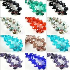 10pcs Charms Glass Crystal Faceted Big Rondelle Loose Finding Spacer Beads 16mm