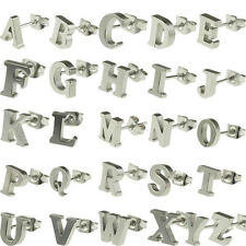 English Alphabet Letter Letters Written ABC Ear Stainless Steel Stud Earrings
