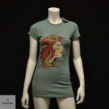 NWT Ed Hardy by Christian Audigier Women's T Shirt - Medusa Sage