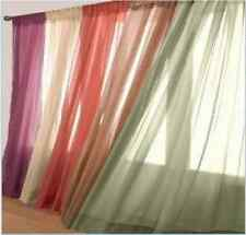 10 Pcs. Sheer Voile Window Panel curtains 20 different colors Brand New Curtian!