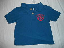 NEW CHILDRENS PLACE BLUE BOYS SIZE 6-9 9-12 12-18 MONTHS POLO SHIRT/TOP W/ANCHOR