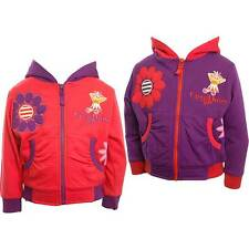 Girls In The Night Garden Upsy Daisy Hooded Top Cherry Red Purple Sizes 1-3Yrs