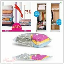 New Space Saver Saving Storage Vacuum Seal Compressed Organizer Bag 4 Sizes
