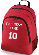 PERSONALISED SPORTS NETBALL SOCCER TEAM NAME SCHOOL COLLEGE SPORTS BAG BACKPACK