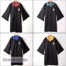 New Harry Potter Adult Gryffindor/Slytherin/Hufflepuff/Ravenclaw Robe Cloak Cape