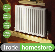 Quinn Round Top Compact Radiator 600mm High Series - Width Choice +FREE DELIVERY