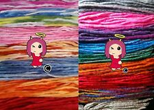 Wool roving dreads, DE dreadlocks lot cyber goth Various STRIPED colours&lengths