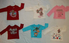 NEW CHILDRENS PLACE GIRLS SIZE 6-9 12 18 24 MONTHS T-SHIRT/TOPS 6 HOLIDAY STYLES