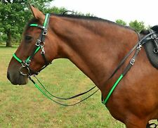 ARAB Size* ANY 2 COLOR Quick Change HALTER BRIDLE & BREAST COLLAR Beta Biothane
