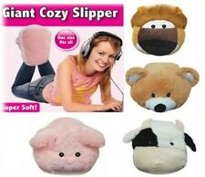 NEW CUTE COSY SOFT GIANT FEET SNUG SNUGGLE WARMER SLIPPER ONE BIG FOOT GIFT