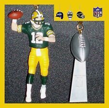 NFL GREEN BAY PACKERS RODGERS & TROPHY OR SUPER BOWL HELMET CEILING FAN PULLS