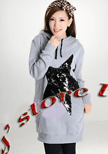Hoodie Sequins jersey cotton blend, top   LSM38 size1x-10x (size16-52)