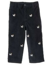 GYMBOREE BARKSIDE ACADEMY NAVY PUPPY EMB CORDUROY PANTS 3 6 12 18 24 2T 5T NWT