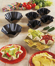 Large 2 pc or 4 Mini Tortilla Bowl Bakers Taco Salad Maker Kitchen Mold Tostada
