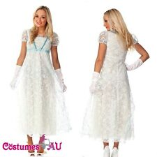 New Medieval Princess Vintage Queen fancy dress costume with gloves