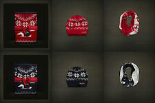 NWT  HOLLISTER ABERCROMBIE FITCH Classic Winter Gift Set Hat Scarf Navy Red