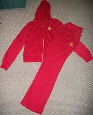 NWT DEREON JEANS 2 PC JACKET & PANTS ACTIVE SET RED OUTFIT WOMEN SZ LARGE OR XL