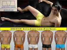 """GROOVIN' (M 31-33"""") Super Low-Rise Boxer Brief /many colors /Japanese-Cut +SEXY"""