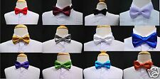 New Satin Bow Tie 14 color choice Baby Toddler Boys Wedding Formal Tuxedo Suit